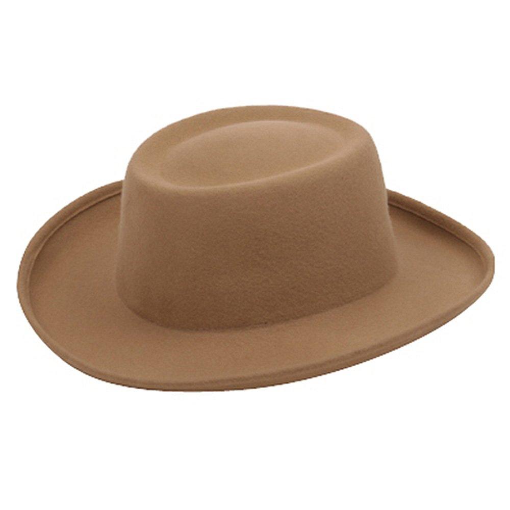 SS/Hat Women's Gambler Felt Hat-Camel OSFM