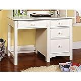 Furniture of America Ruthie Modern Kids Desk in White