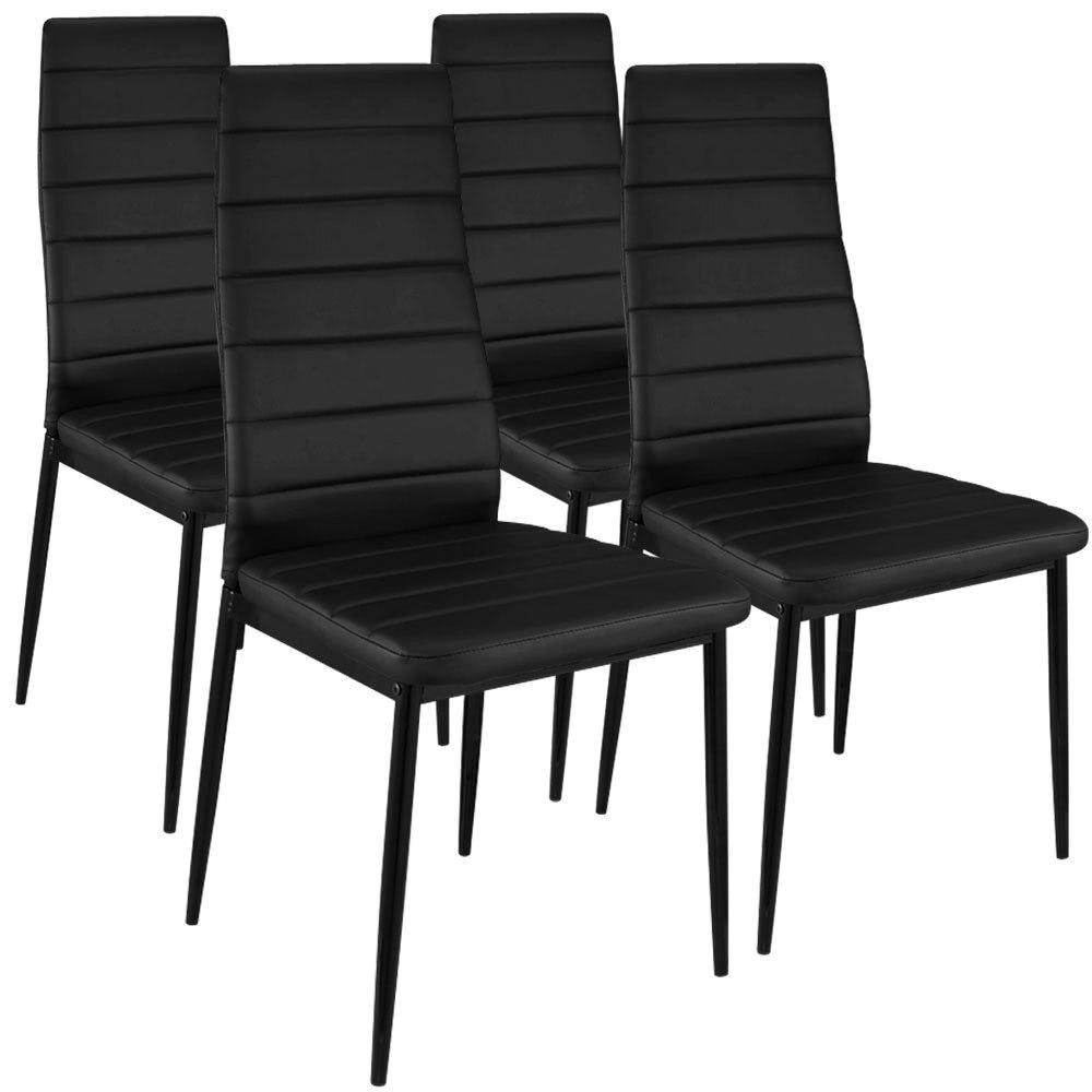 Menzzo España Pack de 4 sillas de Comedor Stratus, Negra