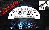 Brand New White Face Blue Indigo Reverse Glow Gauges For 99-04 Mustang V6 (I-116)