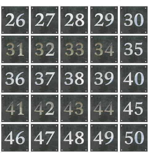 Grande plaque en ardoise et num/éros chrom/és /1//à 99/disponibles
