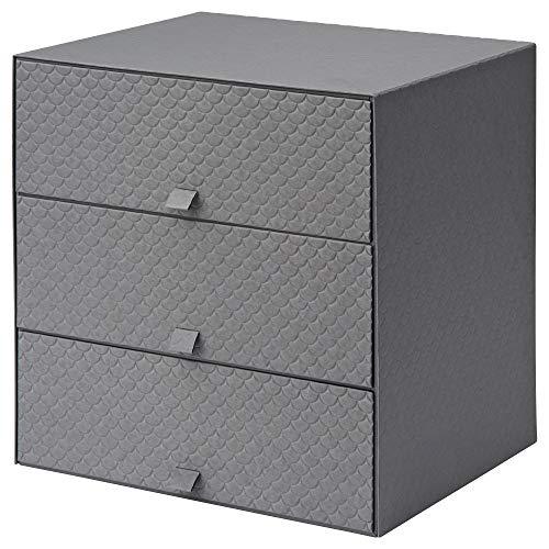 IKEA.. 502.724.80 Pallra Mini Chest with 3 Drawers, Dark Gray (Drawers Mini Chest)