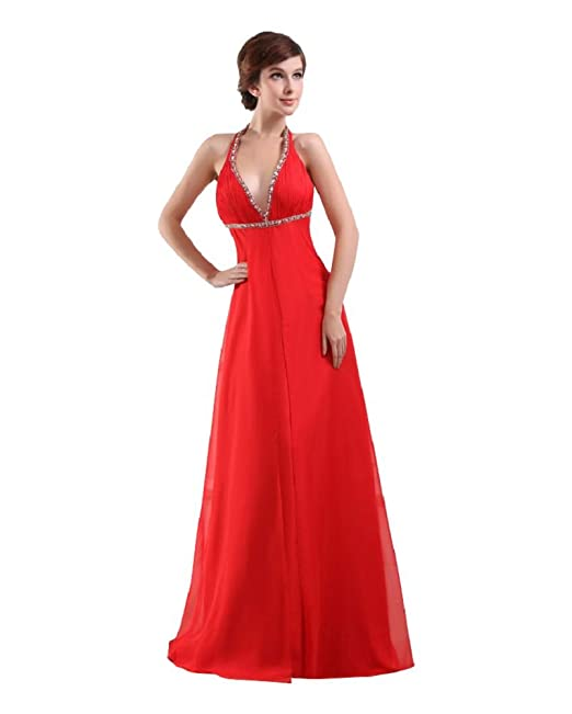 Amazon.com: Beauty-Emily Sleeveless Long Lace Up Evening Gowns Cocktail Prom Dresses for Wedding Party: Clothing