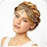 Bohemia pearl tassel hair band headwear ornament hair ring