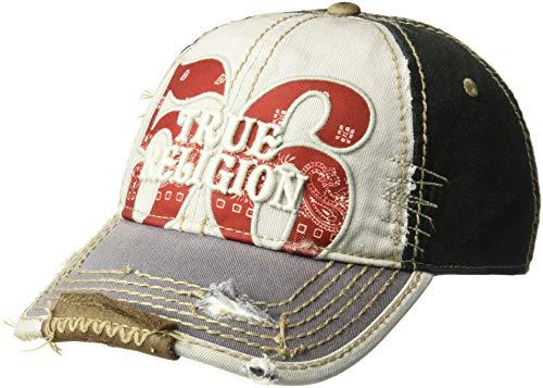 True Religion Men's Bandana Logo Baseball Cap, Grey, One Size