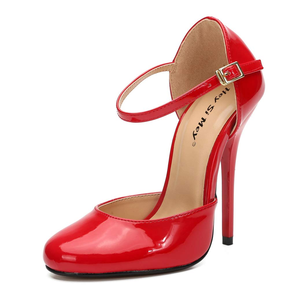 B Monochrome Lace High Heels Unisex Large Size Sandals
