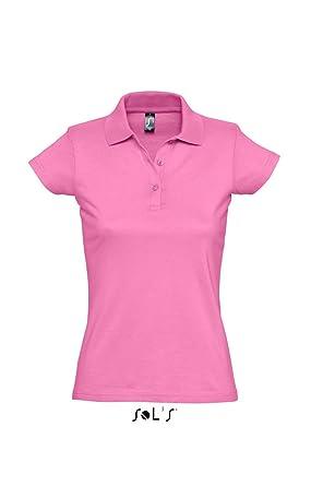 SOLS - Polo - para Mujer Rosa Rosa Small: Amazon.es: Ropa y accesorios