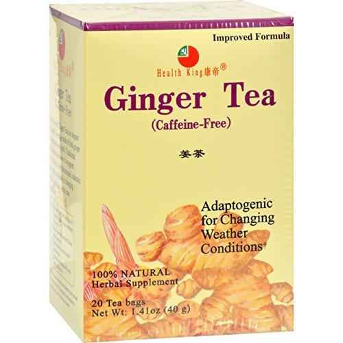 (Health King Medicinal Teas Ginger Herb Tea - Caffeine Free - 20 Tea Bags)