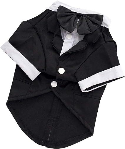Xiaohongmao Camisa para Perro, Camisa de Boda Formal Esmoquin ...