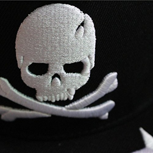 Gorra de bordado del Blanco de Hop Hip del Amalaiworld Esqueleto cráneo Blanco béisbol XwCqCfS