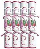 Entertaining with Caspari Christmas Flamingo Celebration Crackers, 10-Inch, Box of 8