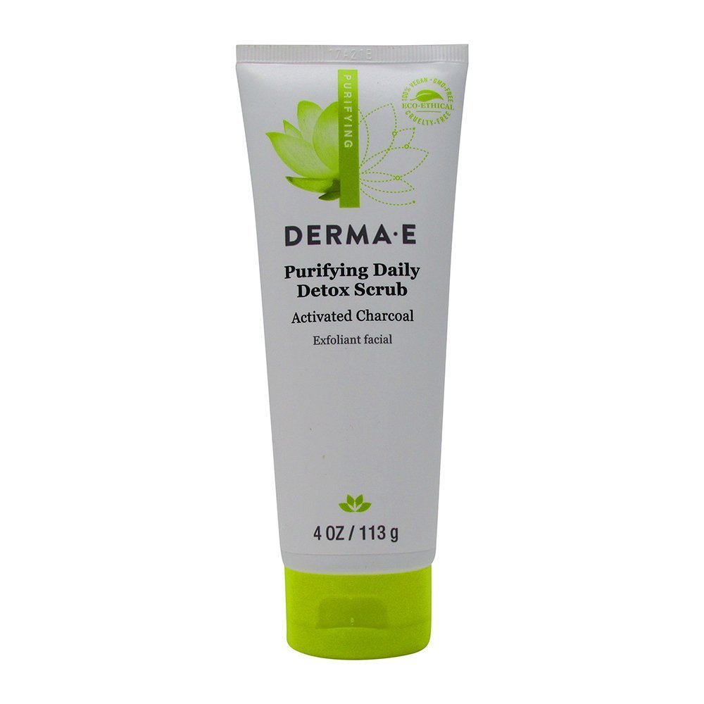 derma e Purifying Daily Detox Scrub With Marine Algae and Activated Charcoal, 4 oz.