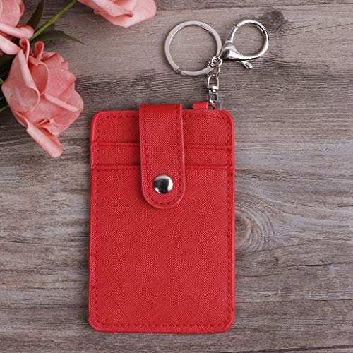 Card Ufficio Case Red Jenor Holder Rosa Lavoro Cards Bus Portachiavi Portable Strumento Id Y0n6TEB