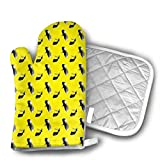 Dance Tap Shoes Dancing Clothing Heat Resistant Kitchen Oven Mitt with Non-Slip Printed, Set of 2 Oven Gloves for BBQ Cooking Baking, Grilling, Barbecue,Microwave, Machine Washable.