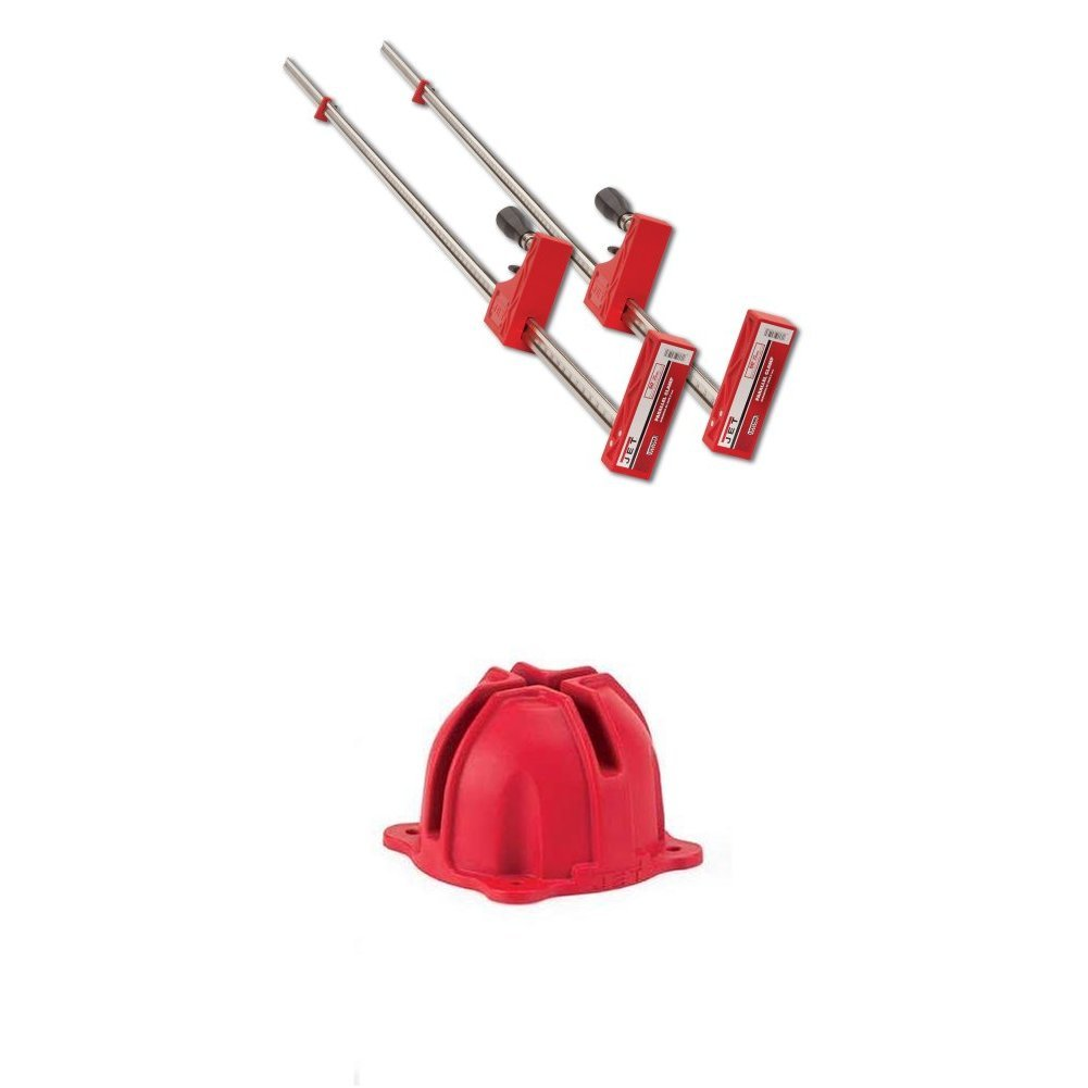 Jet 70450-2 50'' Parallel Clamp 2 Pack with Parallel Framing Block Kit (Set of 4)