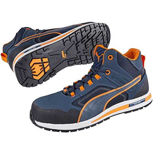 Puma CrossTwist Mid S3 633140 Bleu/orange/noir
