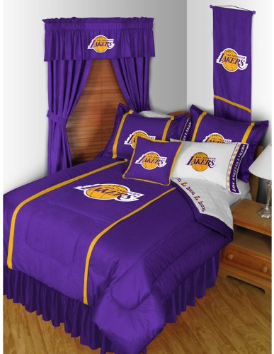 Los Angeles Lakers 7 Pc FULL Comforter Set (Comforter, 1 Flat Sheet, 1 Fitted Sheet, 2 Pillow Cases, 2 Shams) SAVE BIG ON BUNDLING! by NBA