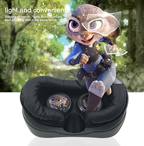 3D Glasses VR Headset Virtual Reality Headset VR Devices Cardboard Android System Resolution 2560 x 1440P Display 5.5 inch 3D Private Theater for Movies and Games Youtube Google Play (no need phone) by BENEVE (Image #2)