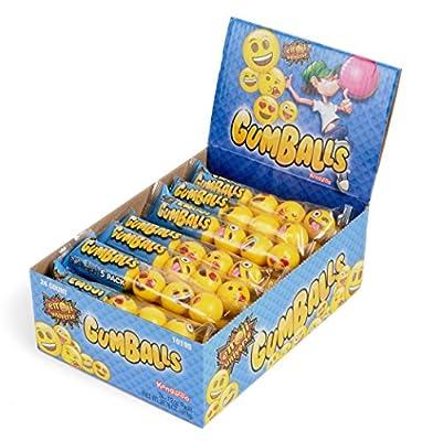 Emoji Gumballs, 24 Count (5-Pack) 120 Gumballs Bulk by Kangaroo Manufacturing