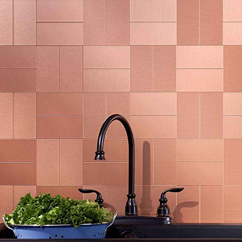 Aspect Peel And Stick Backsplash 3in X 6in Brushed Copper