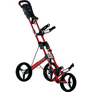 Bag Boy Automatic 3 Wheel Push Cart (Red)