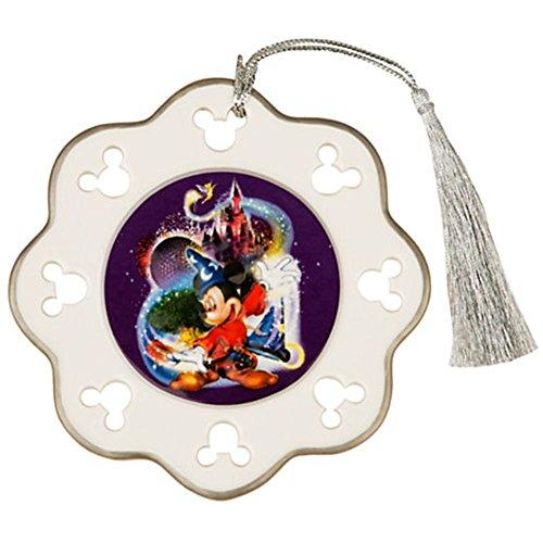 (Walt Disney World Four Parks One World Sorcerer Mickey Snowflake Ornament)