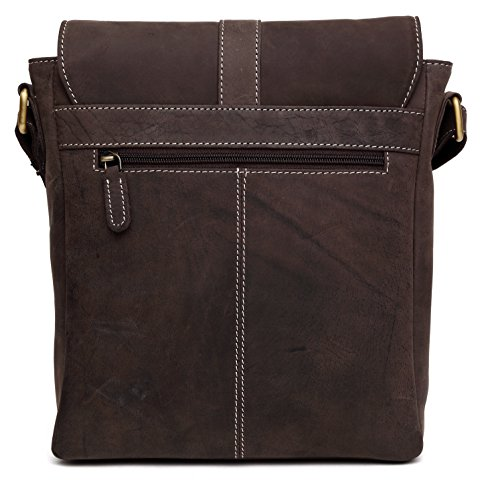 Shoulder Real Work Mens Bag Hunter Crossover distressed Genuine Ipad Everyday Leather Vintage Brown 100 Messenger Handmade w5vfqxz