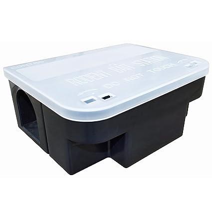Caja portacebos para ratas - Caja de cebo para ratas con cerradura para cebo o para
