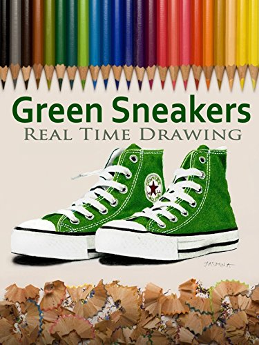 Green Sneakers Real Time Drawing by