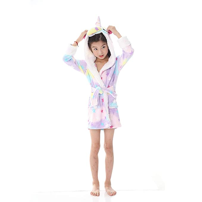 BOYANN Unisex Niños Franela Unicornio Albornoces Batas y Kimonos Pijamas Ropa de Dormir: Amazon.es: Ropa y accesorios