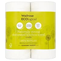 ECOlogical Decorated Kitchen Towels Recycled Waitrose 2 per pack (Pack of 2)
