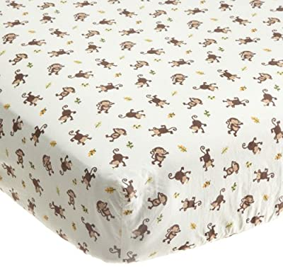 Kids Line Jungle 123 Fitted Sheet, Brown from Kids Line