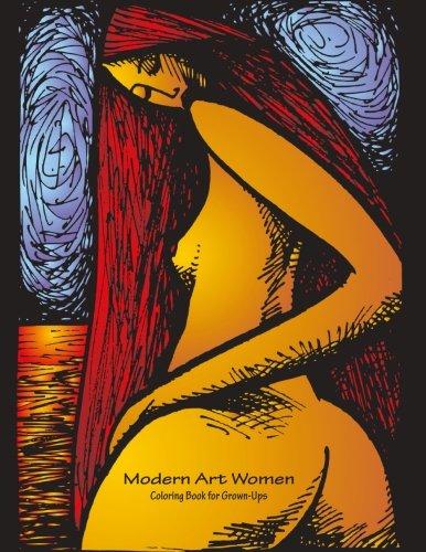 Modern Art Women Coloring Book for Grown-Ups 1 (Volume -