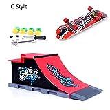 ZYAQ Mini Skate Park Ramp Parts for Tech Deck Fingerboard Finger Skateboard Ultimate Parks Ramp #C