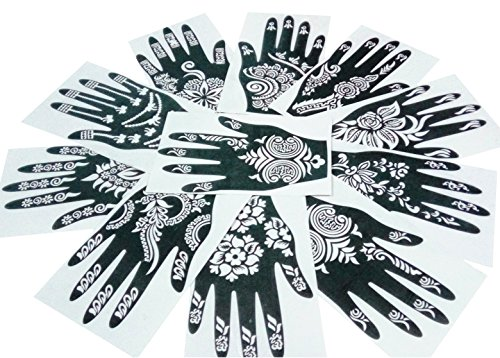 jual parth impex henna tattoo stencils pack of 12 self adhesive