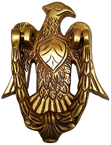 PARIJAT HANDICRAFT Door Knocker Brass Door Knocker: Antique Eagle Hawk Gate Handle