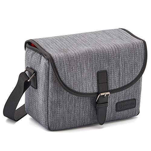 Evecase DSLR Digital SLR Camera Messenger Shoulder Shockproof Case Bag for Mirrorless, Micro 4/3, Compact System,Gadget - Gray