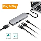 USB C Hub, Type C Adapter with Type C Charging Port, 4K HDMI Output, 2 USB 3.0 Ports for MacBook Pro 2015/2016, Chromebook & more USB C Devices