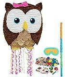 BirthdayExpress Pink Owl Party Supplies - Pinata Kit