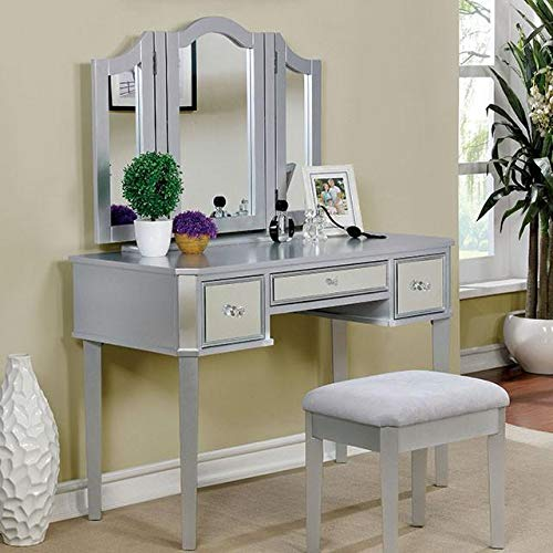 Clarisse Contemporary Vanity With Stool, - Vanity Clarissa