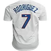 $132 » Ivan Rodriguez Signed Jersey - Texas Pro Edition) - JSA Certified - Autographed MLB Jerseys