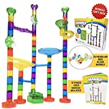 Toys : Marble Run Track Toy Set – Translucent Marble Maze Race Game Set By Marble Galaxy – Fun Educational STEM Building Construction Toys For Kids - 90 Sturdy Colorful Marbulous Pcs & Glass Marbles