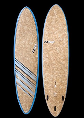 NSP-Coco-Mat-76-x-21-34-x-2-78-51L-Funboard-Brown-Fins-Included