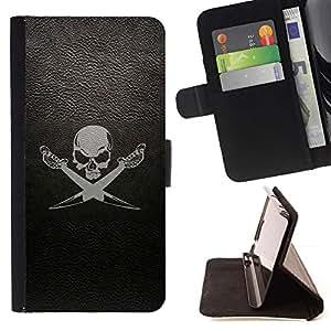 Momo Phone Case / Flip Funda de Cuero Case Cover - cherep sabli fon - Samsung Galaxy S4 IV I9500