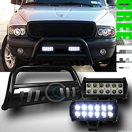 Amazon blk bull bar bumper guard36w cree led fog lights for blk bull bar bumper guard36w cree led fog lights for 2005 2014 frontier aloadofball Image collections