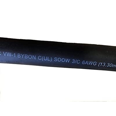 Bybon 75ft 6//4 SOOW Extra Heavy Duty Flexible Portable Cord Outdoor 600v UL for sale online