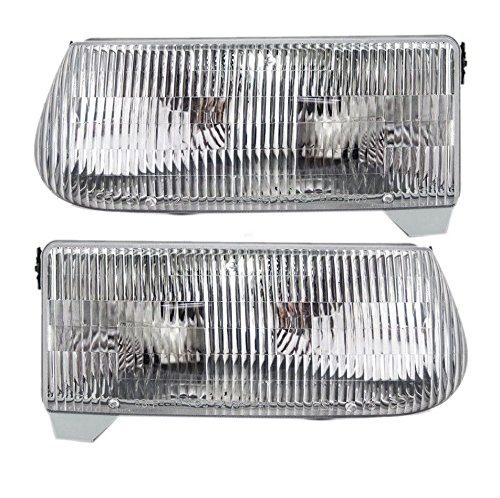 New Pair Left and Right Headlight Assemblies for a 95-01 Ford Explorer
