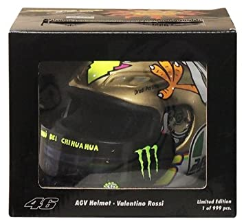AGV 1: 2 Escala Casco Valentino Rossi MotoGP Valencia 2009