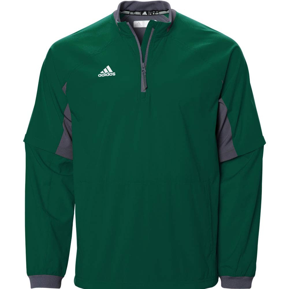 adidas Mens Fielder's Choice Convertible Jacket, Collegiate Green/Onix Grey, Xx-Large by adidas