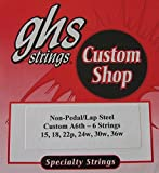 Lap Steel Guitar Strings GHS Custom 6 Strings A6 tuning - 15-36w gauges - 2 Sets